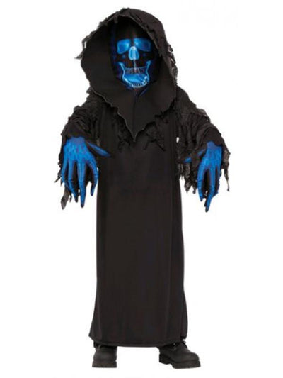 Skull Phantom Costume - Size L-Costumes - Boys-Jokers Costume Hire and Sales Mega Store