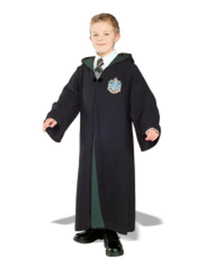 Slytherin Deluxe Robe Child- Size S-Costumes - Boys-Jokers Costume Hire and Sales Mega Store