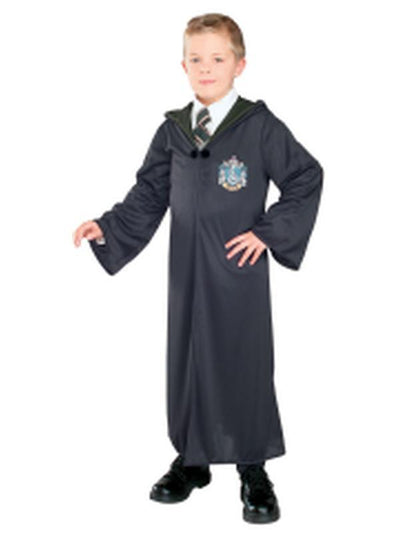 Slytherin Robe Child - Size M-Costumes - Boys-Jokers Costume Hire and Sales Mega Store