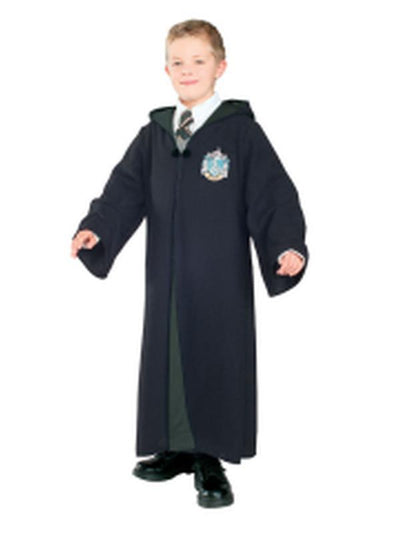 Slytherin Robe Deluxe Child - Size L-Costumes - Boys-Jokers Costume Hire and Sales Mega Store