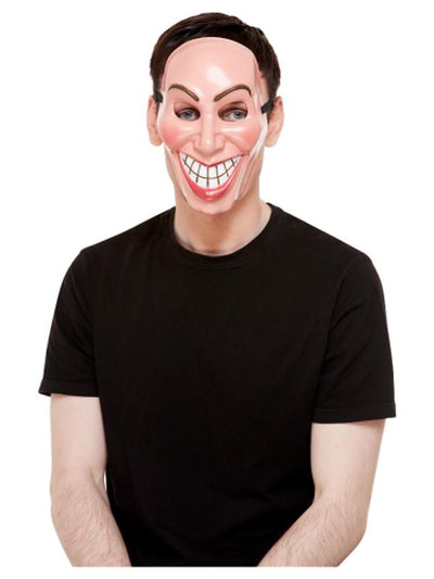 Smiler Mask, Male, Beige-Masks - Basic-Jokers Costume Mega Store