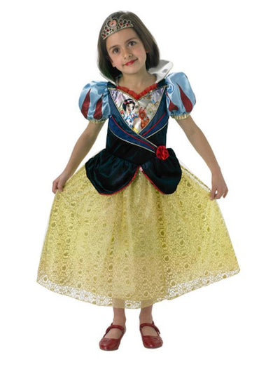 Snow White Shimmer - Size L-Costumes - Girls-Jokers Costume Hire and Sales Mega Store