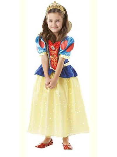 Snow White Sparkle - Size M-Costumes - Girls-Jokers Costume Hire and Sales Mega Store