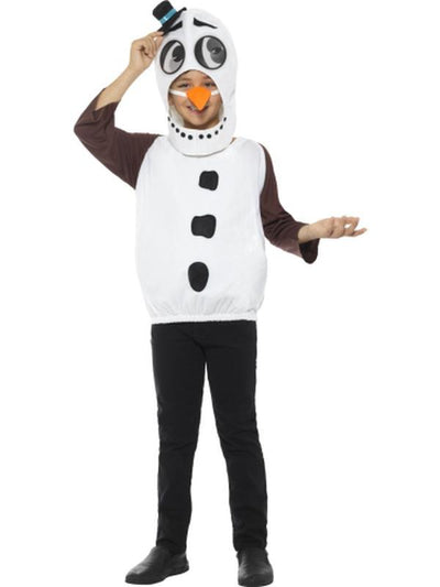 Snowman Costume, with Tabard, Carrot Nose-Jokers Costume Mega Store