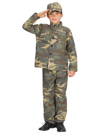 Soldier - Medium/Large-Costumes - Boys-Jokers Costume Hire and Sales Mega Store