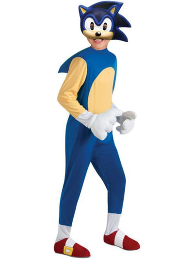 Sonic The Hedgehog Deluxe - Size L-Costumes - Boys-Jokers Costume Hire and Sales Mega Store