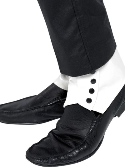 Spats, White-Costume Accessories-Jokers Costume Mega Store