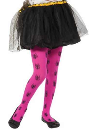 Spider-Girl Pink Tights - Child-Leg Wear-Jokers Costume Hire and Sales Mega Store