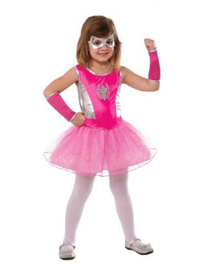 Spider-Girl Pink Tutu Dress - Size L-Costumes - Girls-Jokers Costume Hire and Sales Mega Store