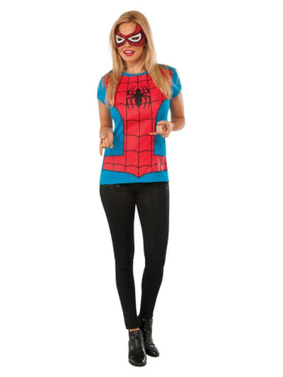 Spider-Girl Tshirt - Size S-Costumes - Women-Jokers Costume Hire and Sales Mega Store
