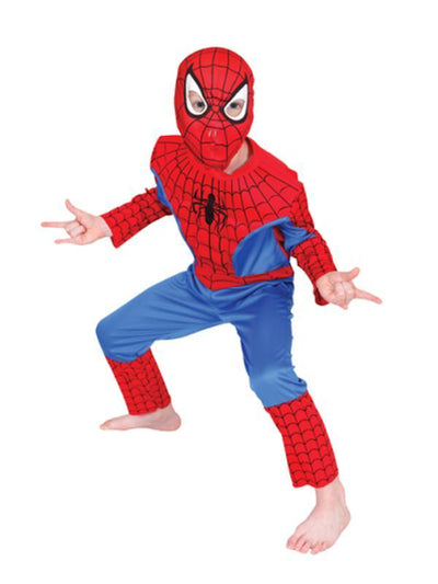 Spider-Man Costume - Size 6-8-Costumes - Boys-Jokers Costume Hire and Sales Mega Store