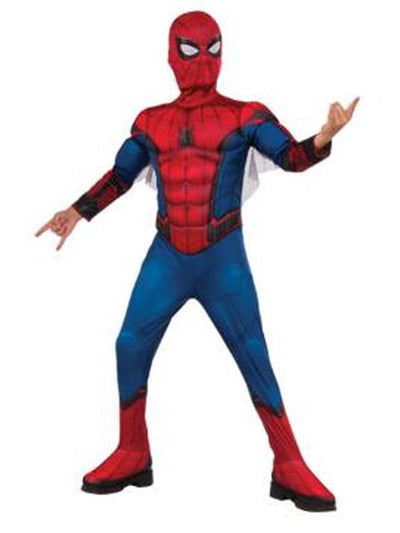 Spider-Man Homecoming Deluxe Costume - Size 6-8-Costumes - Boys-Jokers Costume Hire and Sales Mega Store
