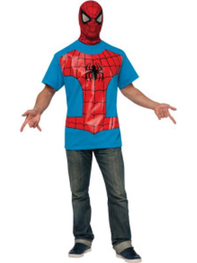 Spider-Man T Shirt - Size Xl-Costumes - Mens-Jokers Costume Hire and Sales Mega Store