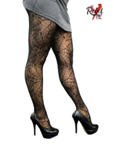 Spider Web Tights - Deluxe-Leg Wear-Jokers Costume Hire and Sales Mega Store
