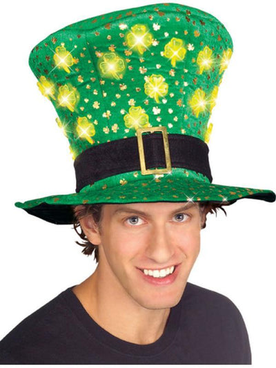 St. Patricks Day Light Up Hat-Hats and Headwear-Jokers Costume Hire and Sales Mega Store