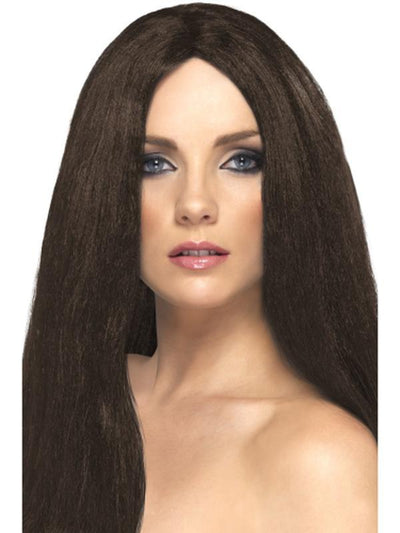 Star Style Wig - Brown-Wigs-Jokers Costume Hire and Sales Mega Store