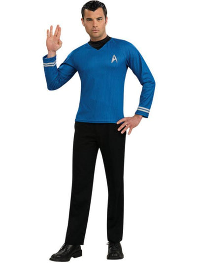 Star Trek Blue Shirt Adult - Size S-Costumes - Mens-Jokers Costume Hire and Sales Mega Store