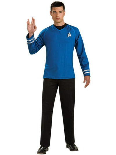 Star Trek Collector'S Edition Blue Shirt - Size L-Costumes - Mens-Jokers Costume Hire and Sales Mega Store