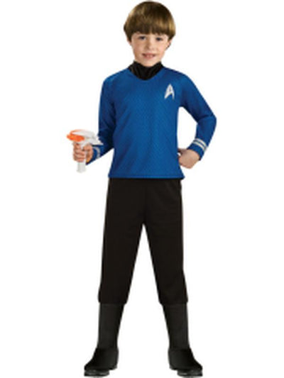 Star Trek Deluxe Blue Shirt - Size L.-Costumes - Boys-Jokers Costume Hire and Sales Mega Store