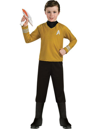 Star Trek Deluxe Gold Shirt - Size M-Costumes - Boys-Jokers Costume Hire and Sales Mega Store