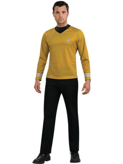 Star Trek Gold Shirt Adult - Size S-Costumes - Mens-Jokers Costume Hire and Sales Mega Store