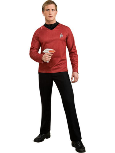 Star Trek Scotty Red Shirt - Size S-Costumes - Mens-Jokers Costume Hire and Sales Mega Store