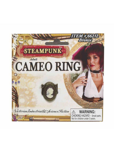 Steampunk Cameo Ring-Bronze-Costume Accessories-Jokers Costume Hire and Sales Mega Store