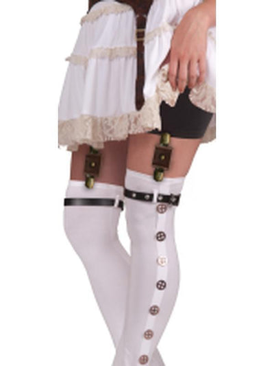 Steampunk Garter With Buckles Brown-Leg Wear-Jokers Costume Hire and Sales Mega Store