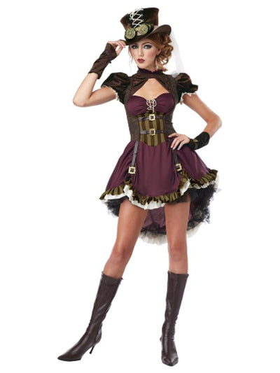STEAMPUNK GIRL/ADULT-Costumes - Women-Jokers Costume Mega Store