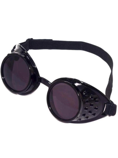 Steampunk Goggles, Black-Eyewear-Jokers Costume Mega Store