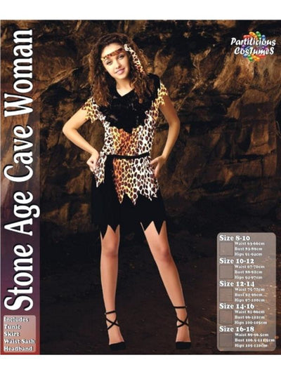 Stone Age Cave Woman-Costumes - Women-Jokers Costume Hire and Sales Mega Store