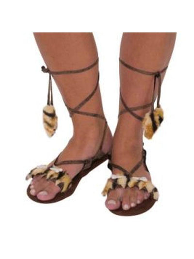 Stone Age Style Sandals - Adult-Costume Accessories-Jokers Costume Hire and Sales Mega Store