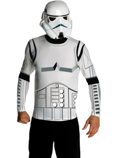 Stormtrooper Classic Costume Top & Mask - Size Xl-Costumes - Mens-Jokers Costume Hire and Sales Mega Store