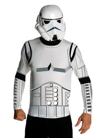Stormtrooper Dress Ups: Classic Long Sleeve Tops-Costumes - Mens-Jokers Costume Hire and Sales Mega Store