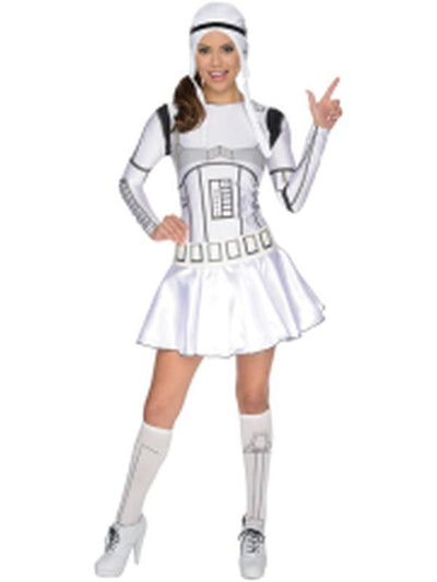 Stormtrooper Female Costume - Size S-Costumes - Women-Jokers Costume Hire and Sales Mega Store