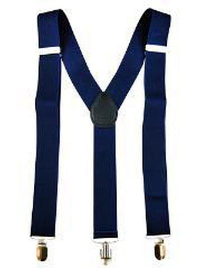 Stretch Braces/Suspenders - Navy Blue-Costume Accessories-Jokers Costume Hire and Sales Mega Store