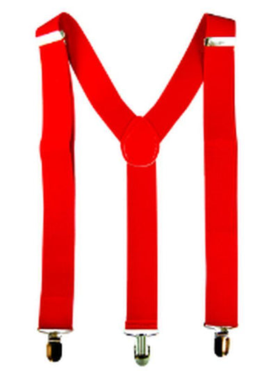 Stretch Braces/Suspenders - Red-Costume Accessories-Jokers Costume Hire and Sales Mega Store
