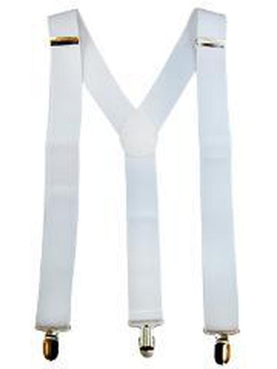 Stretch Braces/Suspenders - White-Costume Accessories-Jokers Costume Hire and Sales Mega Store