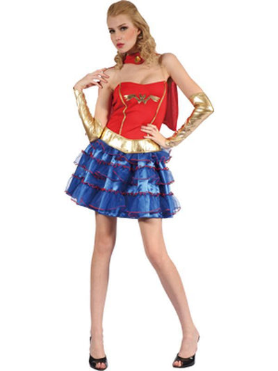 **Super Girl - Adult - Large**-Costumes - Women-Jokers Costume Hire and Sales Mega Store