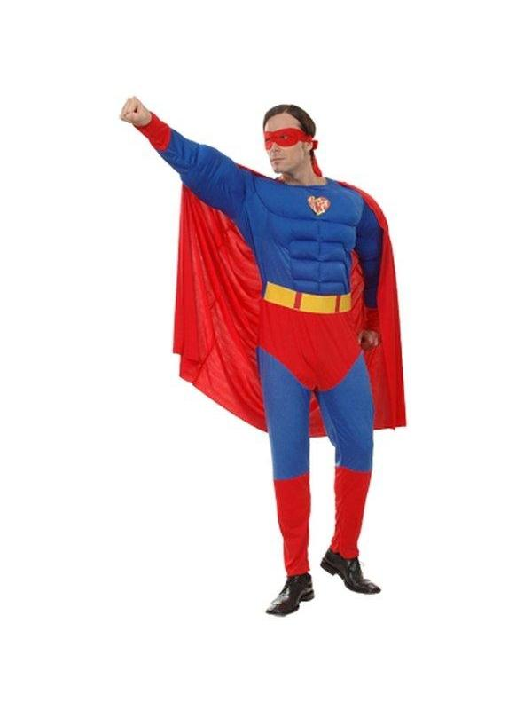 **Super Hero - Adult - Medium**-Costumes - Mens-Jokers Costume Hire and Sales Mega Store