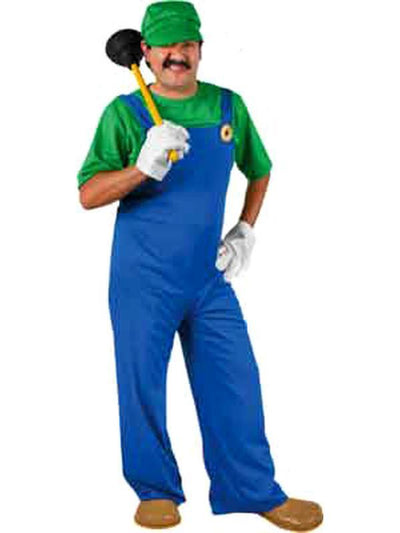 Super L Plumber - Adult-Costumes - Mens-Jokers Costume Hire and Sales Mega Store