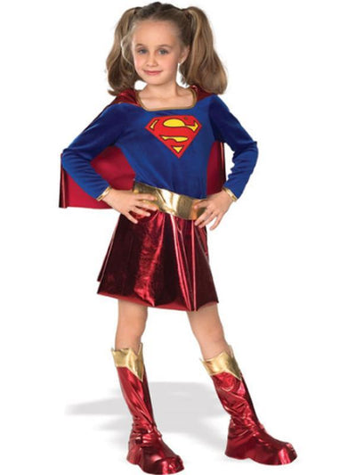 Supergirl Deluxe Child - Size L-Costumes - Girls-Jokers Costume Hire and Sales Mega Store