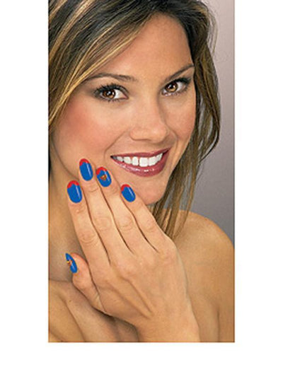 Supergirl Nail Decal Kit-Make up and Special FX-Jokers Costume Hire and Sales Mega Store