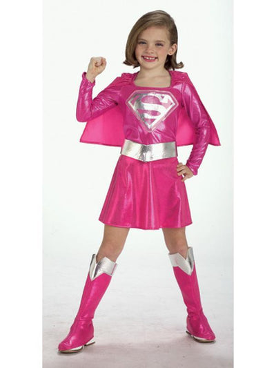 Supergirl Pink Costume- Size Toddler-Costumes - Girls-Jokers Costume Hire and Sales Mega Store