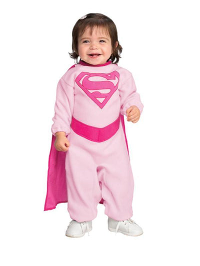 Supergirl Pink - Size 0-6 Months-Costumes - Girls-Jokers Costume Hire and Sales Mega Store