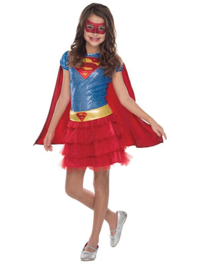 Supergirl Sequin Tutu Costume - Size Toddler-Costumes - Girls-Jokers Costume Hire and Sales Mega Store