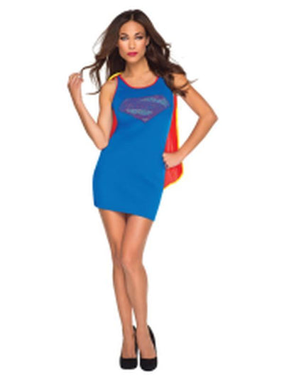 Supergirl Tank Dress - Size S-Costumes - Women-Jokers Costume Hire and Sales Mega Store