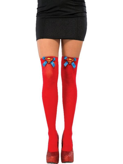 Supergirl Thigh Highs-Leg Wear-Jokers Costume Hire and Sales Mega Store