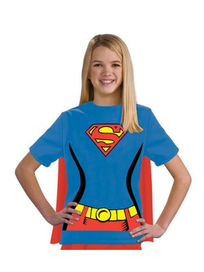 Supergirl Tshirt - Size M-Costumes - Girls-Jokers Costume Hire and Sales Mega Store