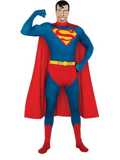 Superman 2Nd Skin Suit - Size M-Costumes - Mens-Jokers Costume Hire and Sales Mega Store